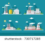 collection industrial ... | Shutterstock .eps vector #730717285