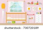 children's room for a girl.... | Shutterstock .eps vector #730720189