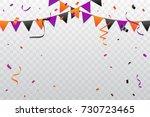orange and purple black...   Shutterstock .eps vector #730723465
