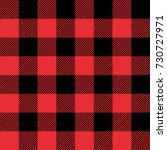 red and black tartan plaid... | Shutterstock .eps vector #730727971