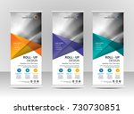 roll up banner stand template... | Shutterstock .eps vector #730730851