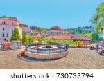 roof of a turkish hamam ... | Shutterstock . vector #730733794