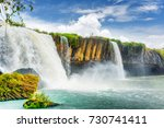 the dray nur waterfall on the...   Shutterstock . vector #730741411