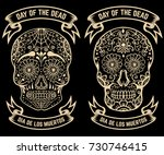 day of the dead. dia de los... | Shutterstock .eps vector #730746415