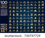 mega set and big group  real... | Shutterstock .eps vector #730747729