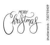 merry christmas inscription... | Shutterstock .eps vector #730755409