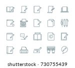 copywriting vector icons set | Shutterstock .eps vector #730755439