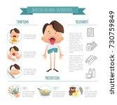infected children. enterovirus. ... | Shutterstock .eps vector #730759849