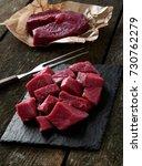 raw beef meat | Shutterstock . vector #730762279