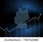 germany economy and market... | Shutterstock .eps vector #730763485