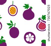 abstract colorful fruits... | Shutterstock .eps vector #730767025