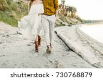 a young couple is having fun... | Shutterstock . vector #730768879