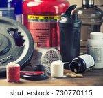 bodybuilding nutrition... | Shutterstock . vector #730770115