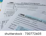 us tax form 1040 on top for... | Shutterstock . vector #730772605