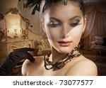 Beautiful Woman Portrait In...