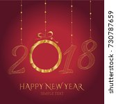 happy new year card with the... | Shutterstock .eps vector #730787659