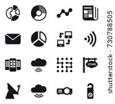 16 vector icon set   circle... | Shutterstock .eps vector #730788505