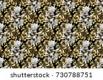 traditional classic golden... | Shutterstock . vector #730788751