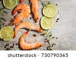 Tiger Shrimps With Lime  Lemon...