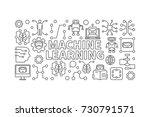 machine learning vector modern... | Shutterstock .eps vector #730791571