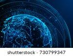 earth planet futuristic... | Shutterstock . vector #730799347