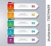 infographic arrows. 5 options ... | Shutterstock .eps vector #730799659