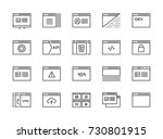 set of 48x48 minimal browser ... | Shutterstock . vector #730801915
