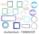 grunge post stamps collection ... | Shutterstock .eps vector #730803229