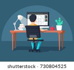 graphic design professional in... | Shutterstock .eps vector #730804525