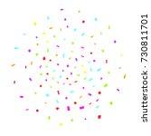 colorful explosion of confetti. ... | Shutterstock . vector #730811701