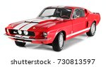 SARAJEVO, BIH - OCTOBER 9, 2017 : Ford Mustang Shelby GT500 year 1967, die cast model car isolated on white background. - stock photo