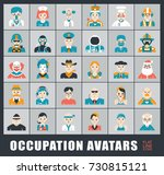 set of avatar icons. collection ... | Shutterstock .eps vector #730815121
