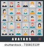 set of people avatars.... | Shutterstock .eps vector #730815139