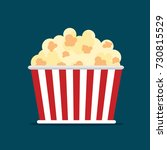 popcorn icon symbol food cinema ... | Shutterstock .eps vector #730815529