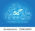 5g iot internet of things smart ... | Shutterstock . vector #730816855