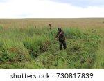 the farmer prepares hay for the ...   Shutterstock . vector #730817839