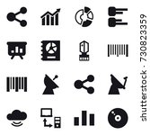 16 vector icon set   share ... | Shutterstock .eps vector #730823359