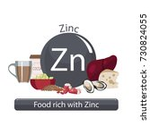 products rich with zinc. bases... | Shutterstock .eps vector #730824055