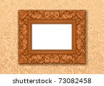 royal picture frame  carved... | Shutterstock .eps vector #73082458
