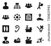 16 vector icon set   man ... | Shutterstock .eps vector #730825981