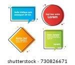 quote text bubble. commas  note ... | Shutterstock .eps vector #730826671