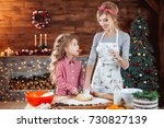 merry christmas and happy... | Shutterstock . vector #730827139