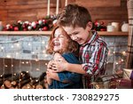 beautiful happy laughing... | Shutterstock . vector #730829275