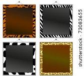 Four Animal Print Frames To Pu...