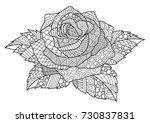 line art design of rose for... | Shutterstock .eps vector #730837831