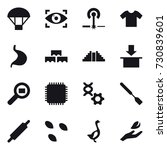16 Vector Icon Set   Parachute...