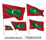maldives vector flags set. 5... | Shutterstock .eps vector #730840534