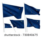 alaska state vector flags set.... | Shutterstock .eps vector #730840675