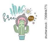 free hug slogan with cute... | Shutterstock .eps vector #730846771