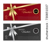 gift voucher  certificate or... | Shutterstock .eps vector #730851037